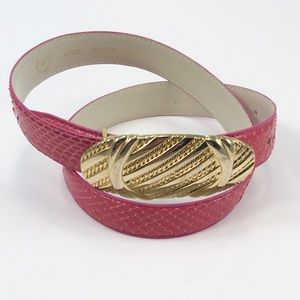 Accessories - 💥3/$40💥Genuine Pink Snake Skin Sz Med Belt